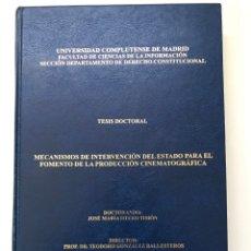 Libros de segunda mano: TESIS DOCTORAL DE JOSE MARIA TIMÓN REF I. Lote 277851473