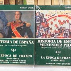 Libros de segunda mano: LA ÉPOCA DE FRANCO - TOMOS XLI (1 Y 2) HISTORIA DE ESPAÑA RAMÓN MENÉNDEZ PIDAL. Lote 278271213