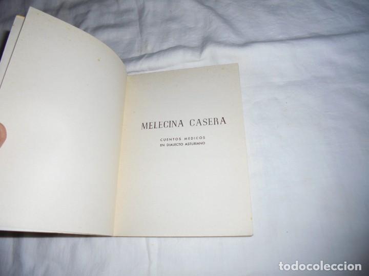 Libros de segunda mano: MELECINA CASERA.CUENTOS MEDICOS EN DIALECTO ASTURIANO.A.GARCIA OLIVEROS(AGO).OVIEDO 1970.-2ª EDICION - Foto 2 - 278291188