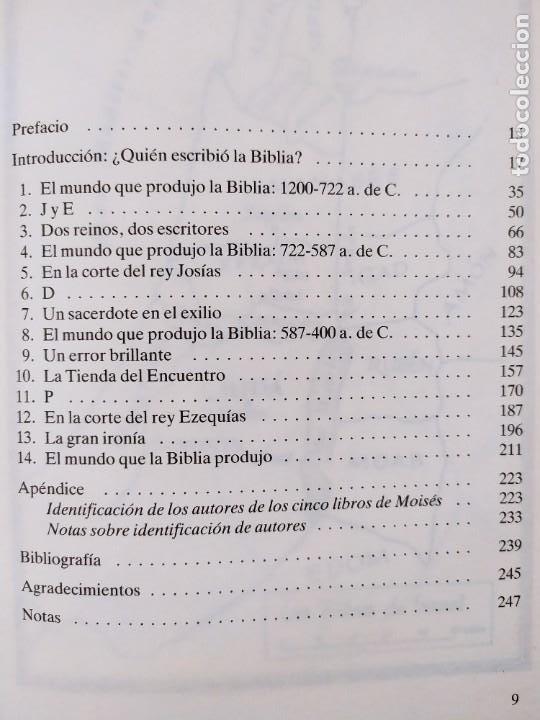 Libros de segunda mano: QUIEN ESCRIBIO LA BIBLIA / RICHARD ELLIOTT FRIEDMAN / 1988. MARTINEZ ROCA - Foto 2 - 278330343