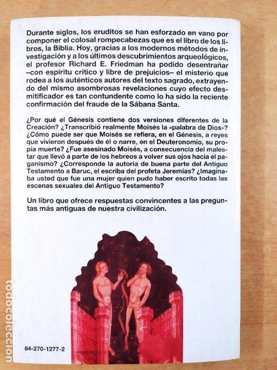 Libros de segunda mano: QUIEN ESCRIBIO LA BIBLIA / RICHARD ELLIOTT FRIEDMAN / 1988. MARTINEZ ROCA - Foto 4 - 278330343
