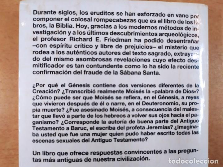Libros de segunda mano: QUIEN ESCRIBIO LA BIBLIA / RICHARD ELLIOTT FRIEDMAN / 1988. MARTINEZ ROCA - Foto 5 - 278330343