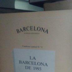 Libros de segunda mano: LA BARCELONA DE 1993, BARCELONA, CUADERNO CENTRAL N.9, AJUNTAMENT DE BARCELONA. Lote 278350543