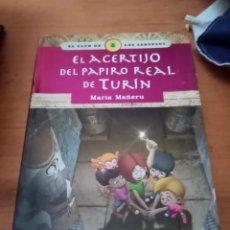 Libros de segunda mano: EL CLUB DE LOS SABUESOS. EL ACERTIJO DEL PAPIRO REAL DE TURÍN. MARÍA MAÑERU. Lote 278350988