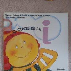 Libros de segunda mano: EL CONTE DE LA I - SABATE CAPELL CULLA - ED. SALVATELLA. Lote 278669438