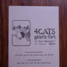 Libros de segunda mano: MARIETTE LLORENS ARTIGAS.4 GATS GALERIA D´ART.PALMA DE MALLORCA 1975. Lote 278755993