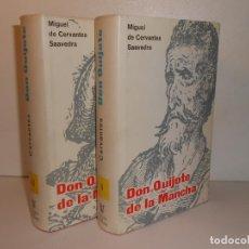 Libros de segunda mano: CERVANTES , DON QUIJOTE DE LA MANCHA / 2T COMPLETO. Lote 278756118