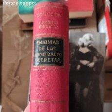 Libros de segunda mano: ENIGMAS DE LAS SOCIEDADES SECRETAS - MORBERGER-THOM,G.K.. Lote 278837333