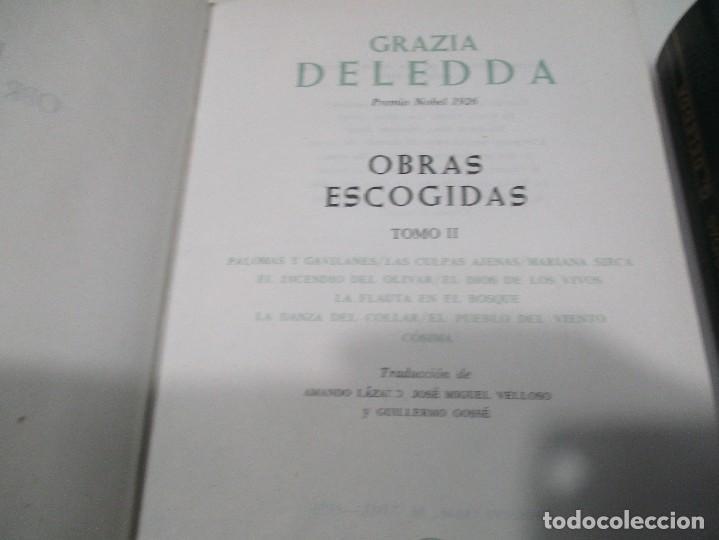 Libros de segunda mano: GRAZIA DELEDDA Obras escogidas (2 Tomos) W8392 - Foto 3 - 278881893