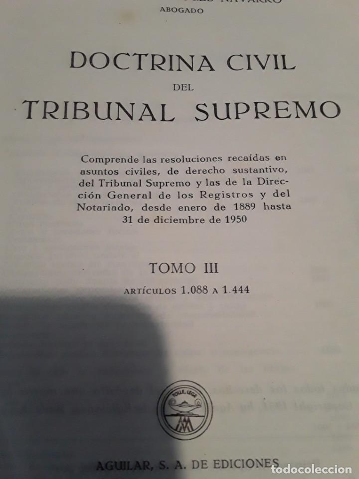 Libros de segunda mano: DOCTRINA CIVIL DEL TRIBUNAL SUPREMO.MANUEL RODRIGUEZ NAVARRO.4 TOMOS.1951.AGUILAR S.A. - Foto 4 - 279407298