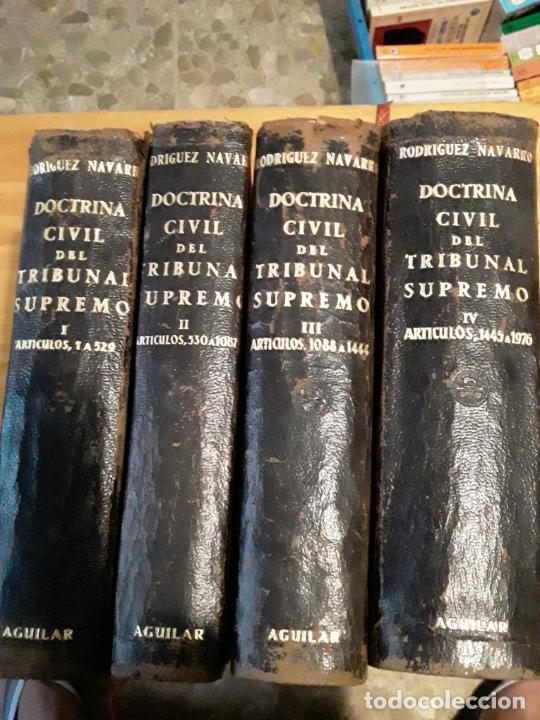 DOCTRINA CIVIL DEL TRIBUNAL SUPREMO.MANUEL RODRIGUEZ NAVARRO.4 TOMOS.1951.AGUILAR S.A. (Libros de Segunda Mano (posteriores a 1936) - Literatura - Otros)