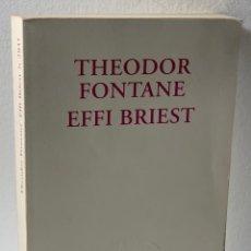 Livres d'occasion: THEODOR FONTANE EFFI BRIEST···· LIBRO ESCRITO EN INGLES. Lote 279423003
