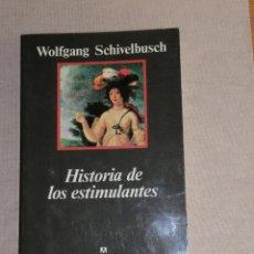 Libros de segunda mano: HISTORIA DE LOS ESTIMULANTES. WOLFGANG SCHIVELBUSCH ANAGRAMA. Lote 279439918