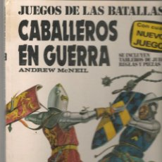 Libros de segunda mano: JUEGOS DE LAS BATALLAS 2. CABALLEROS EN GUERRA. ANDREW MCNEIL. PLAZA¬JANÉS.(P/B10). Lote 279512168