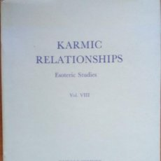 Libros de segunda mano: KARMIC RELATIONSHIPS: ESOTERIC STUDIES: V. 8, RUDOLF STEINER. Lote 279516443