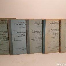 Libros de segunda mano: ADMIRALTY DISTANCE TABLES. 5 VOLUMENES. LONDON. AÑOS 50, 60.. Lote 280105898