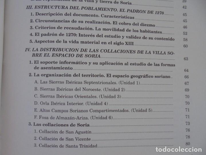Libros de segunda mano: ESPACIO Y SOCIEDAD EN LA SORIA MEDIEVAL SIGLOS XIII-XV. MARIA ASENJO GONZALEZ. DIPUTACION DE SORIA - Foto 9 - 280112778