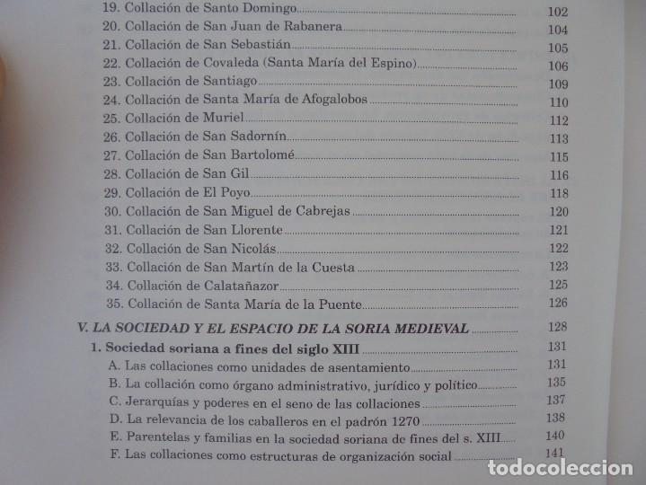 Libros de segunda mano: ESPACIO Y SOCIEDAD EN LA SORIA MEDIEVAL SIGLOS XIII-XV. MARIA ASENJO GONZALEZ. DIPUTACION DE SORIA - Foto 11 - 280112778