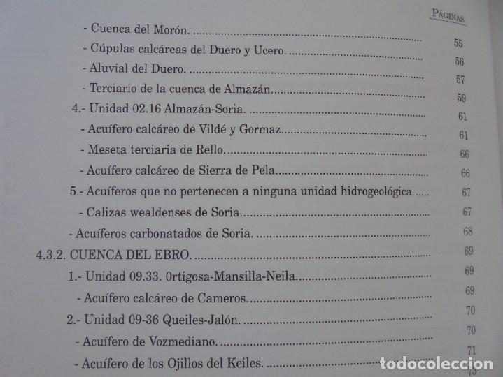 Libros de segunda mano: LAS AGUAS SUBTERRANEAS EN SORIA. EUGENIO SANZ PEREZ. DIPUTACION PROVINCIAL DE SORIA. 1999 - Foto 9 - 280112988