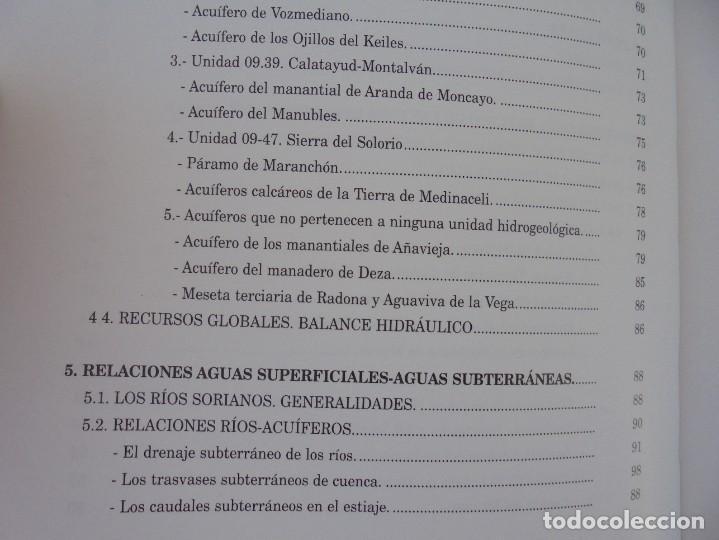 Libros de segunda mano: LAS AGUAS SUBTERRANEAS EN SORIA. EUGENIO SANZ PEREZ. DIPUTACION PROVINCIAL DE SORIA. 1999 - Foto 10 - 280112988