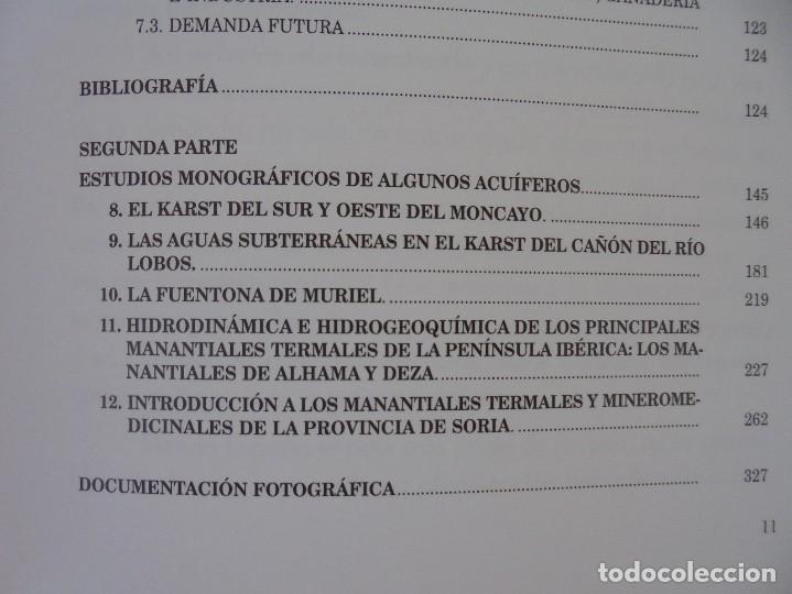 Libros de segunda mano: LAS AGUAS SUBTERRANEAS EN SORIA. EUGENIO SANZ PEREZ. DIPUTACION PROVINCIAL DE SORIA. 1999 - Foto 12 - 280112988