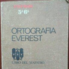 Libros de segunda mano: ORTOGRAFÍA EVEREST, LIBRO DEL MAESTRO – EFREN QUINTANILLA SAINZ (EVEREST, 1969) /// GRAMÁTICA LENGUA. Lote 280200143