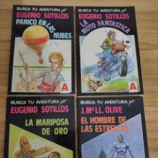 Libros de segunda mano: COLECCIÓN BUSCA TU AVENTURA COMPLETA (4 LIBRO JUEGOS) EDUARDO SOTILLOS - J. M. LL. OLIVE, 1989. Lote 280754018