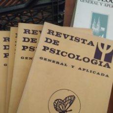 Libros de segunda mano: REVISTA DE PSICOLOGÍA AÑO 1984, 7 TOMOS. Lote 283744973