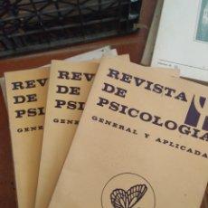 Libros de segunda mano: LIBROS REVISTAS DE PSICOLOGÍA AÑO 1983, 4 VOL. Lote 283745193
