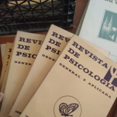 Libros de segunda mano: LIBROS REVISTAS DE PSICOLOGÍA, AÑO 1982, 6 VOL. Lote 283745563