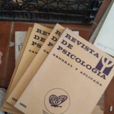 Libros de segunda mano: LIBROS REVISTAS DE PSICOLOGÍA AÑO 1981, 4 VOL. Lote 283745823