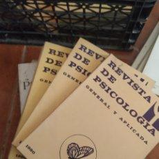 Libros de segunda mano: LIBROS REVISTAS DE PSICOLOGÍA, AÑO 1980, 6 VOL. Lote 283746123