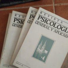 Libros de segunda mano: LIBROS REVISTAS DE PSICOLOGÍA, AÑO 1985 4 VOL. Lote 283746868