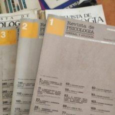 Libros de segunda mano: LIBROS REVISTAS DE PSICOLOGÍA, AÑO 1988, 3 VOL. Lote 283747533