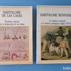 Livros em segunda mão: LA AMERICA ESPAÑOLA Y LA AMÉRICA PORTUGUESA SIGLOS XVI-XVIII + BREVÍSIMA RELACIÓN DESTRUCCIÓN INDIAS. Lote 284020503