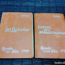 Libros de segunda mano: 2 MANUALES SOLER LAS EPIDEMIAS Nº 39 Y MANUAL DEL NATURALISTA PREPARADOR Nº 84. Lote 284444873