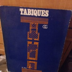 Libros de segunda mano: TABIQUES GUSTAVO GILI 1971. Lote 285343023