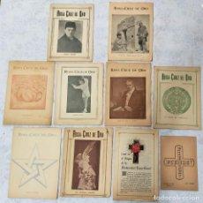Libros de segunda mano: LOTE 8 REVISTAS ROSA-CRUZ DE ORO Y 3 HOJAS SUELTAS FRATERNIDAD ROSA-CRUZ AÑOS 50. Lote 285421618
