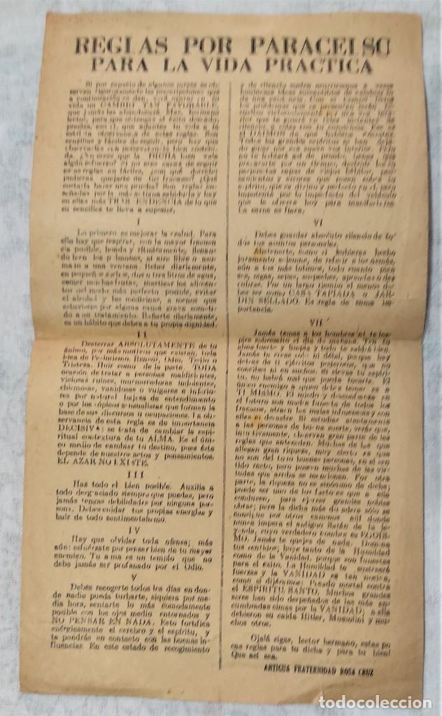 Libros de segunda mano: LOTE 8 REVISTAS ROSA-CRUZ DE ORO Y 3 HOJAS SUELTAS FRATERNIDAD ROSA-CRUZ AÑOS 50 - Foto 2 - 285421618