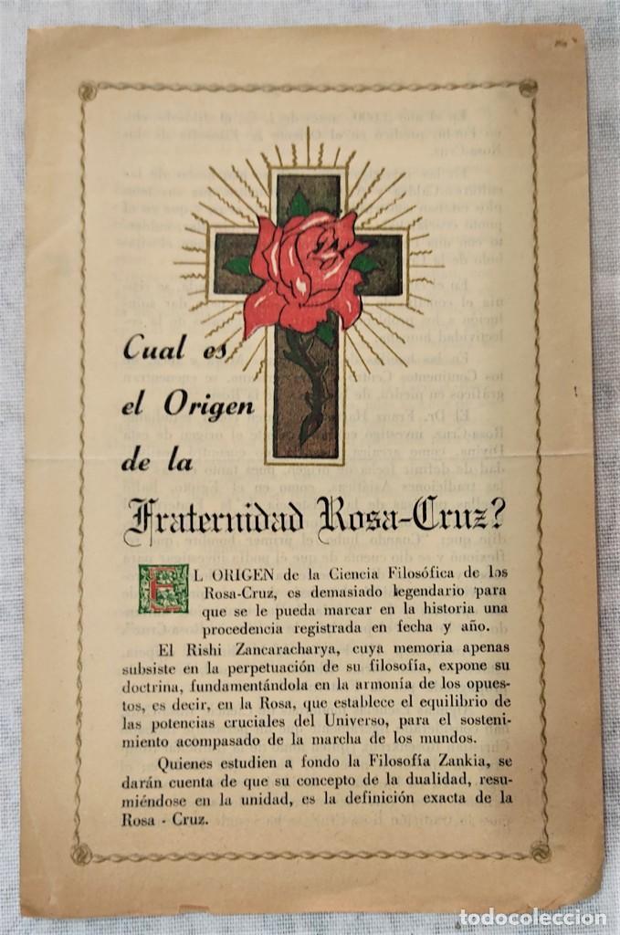 Libros de segunda mano: LOTE 8 REVISTAS ROSA-CRUZ DE ORO Y 3 HOJAS SUELTAS FRATERNIDAD ROSA-CRUZ AÑOS 50 - Foto 5 - 285421618