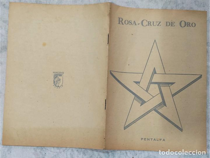 Libros de segunda mano: LOTE 8 REVISTAS ROSA-CRUZ DE ORO Y 3 HOJAS SUELTAS FRATERNIDAD ROSA-CRUZ AÑOS 50 - Foto 10 - 285421618