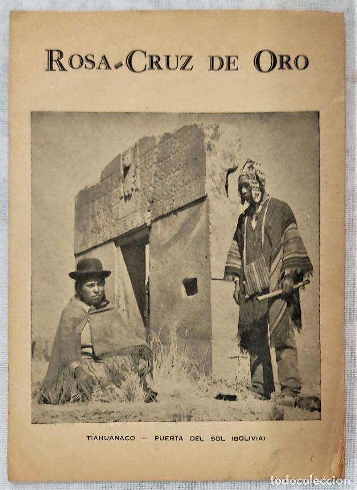 Libros de segunda mano: LOTE 8 REVISTAS ROSA-CRUZ DE ORO Y 3 HOJAS SUELTAS FRATERNIDAD ROSA-CRUZ AÑOS 50 - Foto 19 - 285421618