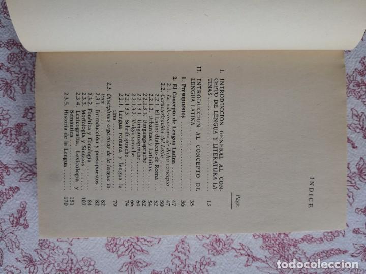 Libros de segunda mano: Introducción a la lengua y literatura latinas Jaime Siles -Envío certificado 4.99 - Foto 6 - 285537438