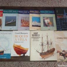 Libri di seconda mano: COLECCIÓN DE LIBROS SOBRE MODELISMO NAVAL Y MINIATURAS *BARCOS - MAQUETAS - ESCALA*. Lote 285991508