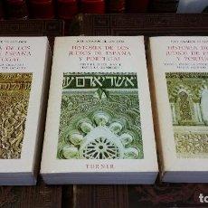 Libros de segunda mano: 1984 - AMADOR DE LOS RÍOS, JOSÉ. HISTORIA DE LOS JUDÍOS DE ESPAÑA Y PORTUGAL. 3 TOMOS. Lote 286156118