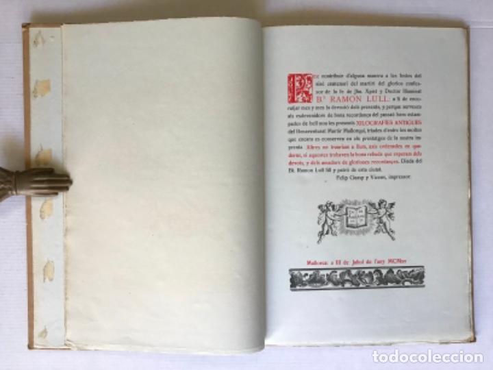 Libros de segunda mano: XILOGRAFIAS ANTIGUAS DEL BTO. RAMON LLULL. - [Facsímil.] - Foto 3 - 286610443