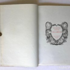 Libros de segunda mano: XILOGRAFIAS ANTIGUAS DEL BTO. RAMON LLULL. - [FACSÍMIL.]. Lote 286610443