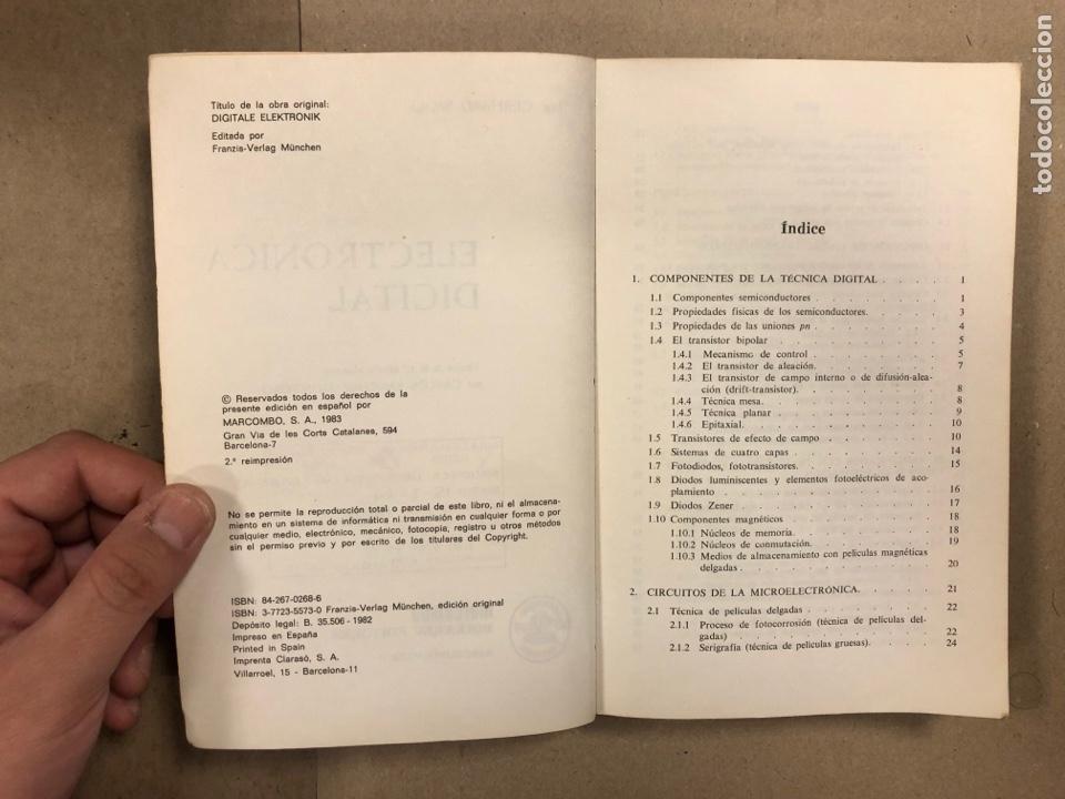 Libros de segunda mano: ELECTRÓNICA DIGITAL. GERHARD WOLF. MARCOMBO BOIXAREU EDITORES 1983. - Foto 3 - 286958853