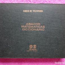 Livros em segunda mão: ERATELE CURSO TV TOMO 6 ÁBACOS MATEMÁTICAS DICCIONARIO VOCABULARIO TÉCNICO CURSO POR CORRESPONDENCIA. Lote 287001553