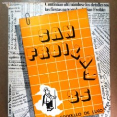 Libros de segunda mano: LUGO GALICIA SAN FROILAN 85 RECOPILATORIO DE PRENSA ESCRITA (VER FOTOS). Lote 287266308